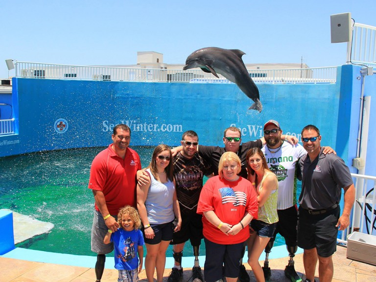 Wounded Warriors Visit to Clearwater Marine Aquarium