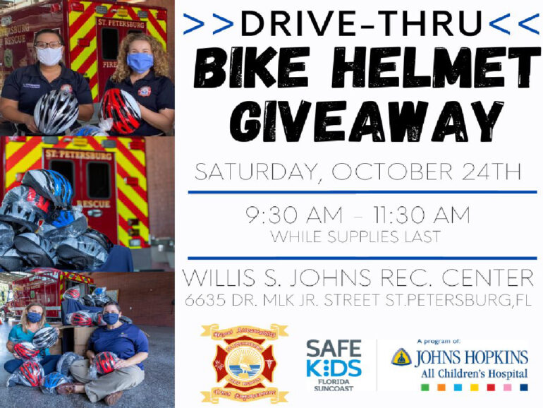 Bike Helmet Giveaway Drive-Thru With St. Pete Fire Rescue