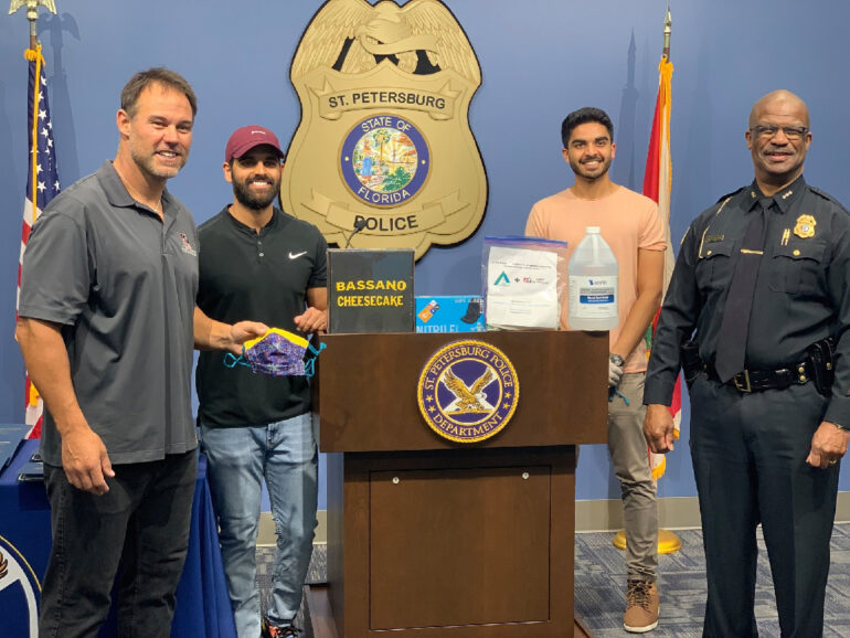 St. Petersburg Police and Fire Department Care Package Donation