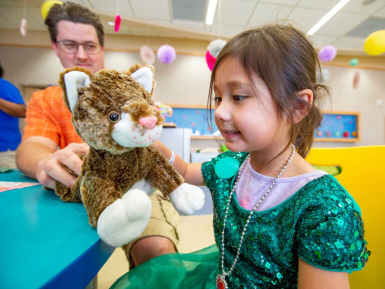 Valentines Day Stuff n' Fluff At Johns Hopkins All Children's Hospital