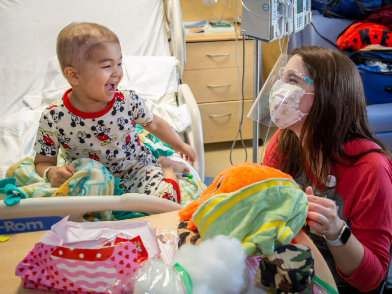 Valentine's Day Party At Johns Hopkins All Children's Hospital
